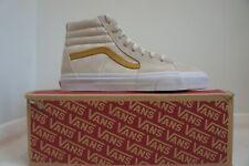 Vans Sk8-Hi, Check Jacquard , Moon White / Gold, Mens, Brand New, UK 8.5/9