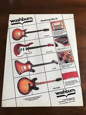 1983 VINTAGE 8.5X11 PRINT Ad WASHBURN GUITARS FALCON, FORCE 30, A-20, HB-35DL