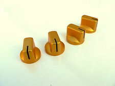 Small amber gold knobs set of 4 for valve amplifier or guitar pedal knob