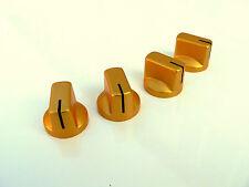 Pequeño ámbar dorado Perillas Conjunto de 4 para Válvula Amplificador O Perilla De Guitarra Pedal