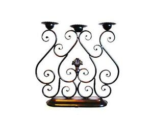 Handcraft Iron Table Candle Holder Centerpiece 47x48cm Brown Color