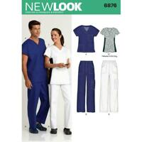 New Look SEWING Pattern 6876 Unisex, Nurse, Scrubs,Health Care Medical Uniform
