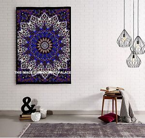 Indien Psychedelic Tapestry Wall Hanging Elephant Star Mandala Throw Hippie Boho