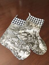 Toile Christmas Stockings (2)