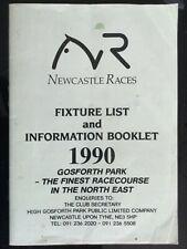 Newcastle Racecourse Fixture List and Information Booklet 1990 Horse Racing