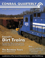 Conrail Quarterly: Fall 2017 issue of The CONRAIL Historical Society -- NEW