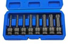 "Us Pro 8pc 1/2"" Impact spline Socket Bit Set M5-M18 Bits Cr-Mo 80mm length B1401"