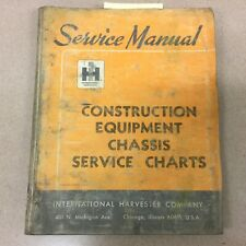 Ih International Service Manual Construction Equipment Chassis Charts Guide Book