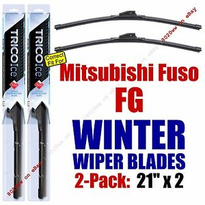 WINTER Wiper Blades 2pk Premium fit 1998-2004 Mitsubishi Fuso FG - 35210x2