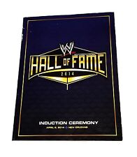 WWE HALL OF FAME 2014 INTRODUCTION CEREMONY PROGRAM BOOK VERY RARE
