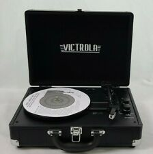 Victrola VSC-550BT-BK Bluetooth Suitcase Turntable Record Player in Black