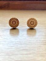 BNWT Gorgeous Wooden Mandala Earrings! Boho, Xmas, Gift, Stocking, Sustainable
