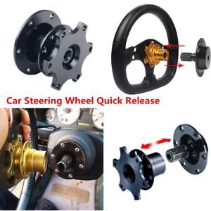 Universal Black Quick Release Car Steering Wheel Hub Boss Adapter Snap Off Kit