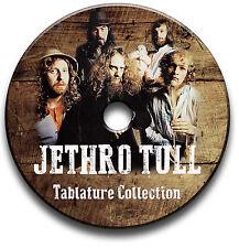 JETHRO TULL PROG ROCK GUITAR TABS TABLATURE SONG BOOK ANTHOLOGY SOFTWARE CD