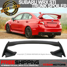 Fit 15-18 Subaru WRX OE STI Factory Style Rear Trunk Spoiler Unpainted ABS Black