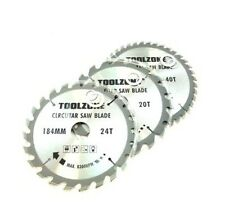 3PC 184mm 185mm TCT CIRCULAR 30mm Hojas De Sierra Taladro 20 24 & 40 Dientes & 3 Reductores