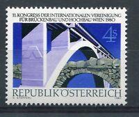 AUTRICHE 1980, timbre 1483, ARCHITECTURE, PONTS, AIPC, neuf**