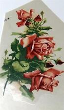 """#1912 Ceramic Decals 3 Pink Rose Florals 6"""""""