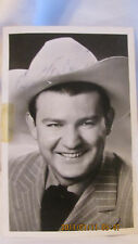RARE 1950 TEX WILLIAMS AUTOGRAPHED PHOTO POSTCARD