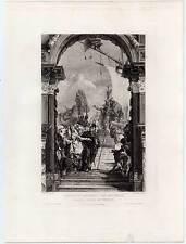 Kleopatra empfängt Antonius - Venedig - Kupferradierung 1884