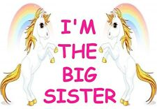 I'M THE BIG SISTER A5 IRON ON TRANSFER A5 UNICORN DESIGN T SHIRT TRANSFER A5