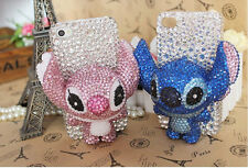 Sparkly Rhinestones Crystals 3D Stitch Hard Cover Case For Various Mobile Phone