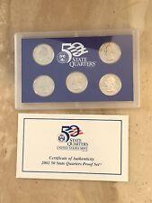 United States Mint State Quarters Proof Set 2002 Box Plus COA