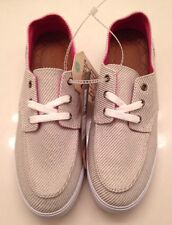 Reef Ladies Deckhand Cream And Pink Shoes Size 9