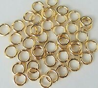 6mm 100 Pack NO SOLDER MAGIC JUMP RINGS gold plate 18 Gauge for jewelry charms