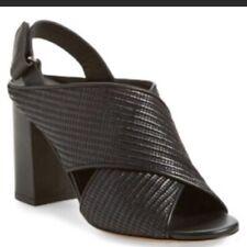 Vince NWOB 'Faine' Slingback Sandal Size 8 Black Peep Toe Leather