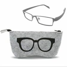Unisex Travel Sunglasses Bag Felt Zipper Glasses Eyewear Case Storage Accessory