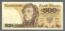Poland 1982 - 500 Zlotych Banknote - General Tadeusz Kosciuszko (1 Banknote)