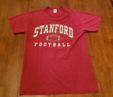 Vintage STANFORD FOOTBALL Russell Athletic Red T-Shirt Ivy League Large