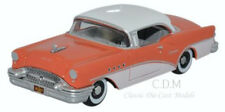 Oxford 1955 Buick Century Coral/Polo White Die-Cast Metal Car 1/87 HO NEW