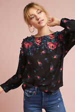 NWT Gardenia Boat Neck Top, by Maeve - Red motif, size M