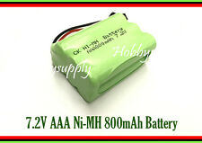 7.2V Ni-MH 800mAh AAA 6-Cell Battery Pack with SM Connector for RC Boat Car