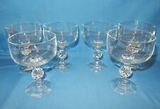 Set of 6 Claudia Crystal Golf Ball Stem Goblets Sherbet Cocktail Wine Glasses