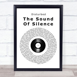 The Sound Of Silence Vinyl Record Song Lyric Gift Print