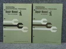 Oem Factory Toyota Forklift 5r Engine Repair Service Overhaul Shop Manual