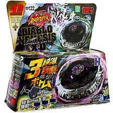 Beyblade Diablo Nemesis X:D BB 122 4D System + Light Spin Launcher Sets Toys New