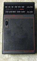 Vntg General Electric AM/FM Transistor Portable Radio Model 7-25826 Clear Sound