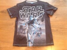 Boys Charcoal Grey Crew Neck Star Wars T-shirt 7 years Next Ht 122cm