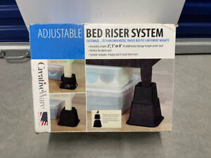 CreativeWare WM-GBR03BLK Adjustable Bed Riser System - Black