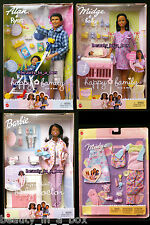 Pregnant Midge Barbie Doll Baby Happy Family Alan Ryan Doctor African America AA