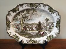 """Johnson Brothers THE FRIENDLY VILLAGE 20"""" Oval Serving Platter ~ Made in England"""