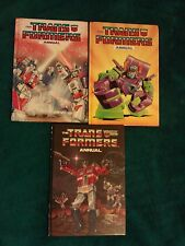 Transformers G1, 3 original Annuals, from the 80s - Rare and collectible