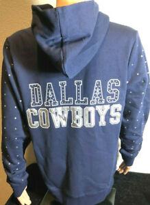 Authentic  Dallas Cowboys Woman's Sweatshirt/ Rhinestones/NWT Reg $65/ 20% OFF