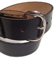 Black Leather Handmade Mens Belt Western Work Holster Made In USA