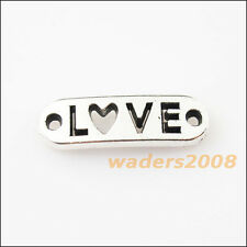 12 New Words Love Tibetan Silver Tone Charms Pendants Connectors 6x20mm