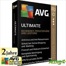 AVG ULTIMATE 2020 2 Jahre | PC, Mac, Android | TuneUp, Internet Security, VPN DE